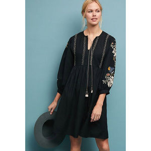Anthropologie Bettina Embroidered Peasant Dress